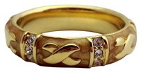Lauren G Adams Lauren G Adams Gold Elegant Hugs Stackable Ring Brown 5 R-49906g