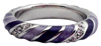 Lauren G Adams Lauren G Adams Stackable Fiesta Ring Lavender Striped R-57608