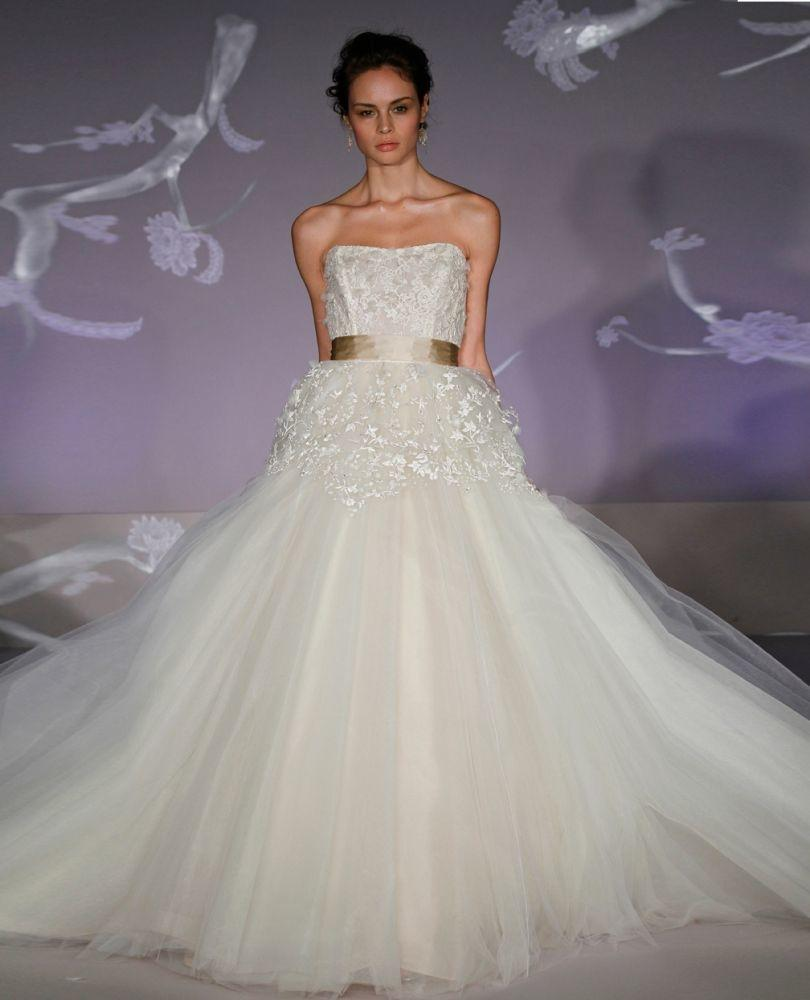 Lazaro Wedding Ball Gowns: Lazaro Strapless Ball Gown In Chantilly Lace 32183147