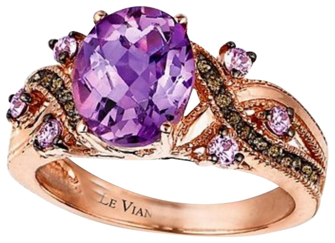 Le Vian Purple 14k Rose Gold Amethyst Sapphire Chocolate Quartz