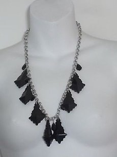 Lee Angel Lee Angel Black Shiny Arrow Charm Silver Link Chain Necklace