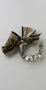 Lee Angel Lee Angel Bow Bracelet Silver Stone Hook Bracelet