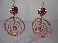 Lee Angel Lee Angel Rose Gold Coin Multi Hoop Earrings