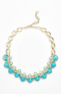 Lee Angel Lee By Lee Angel Capri Frontal Necklace Turq