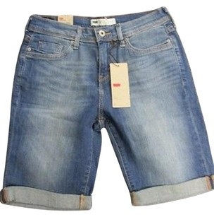 Levi's Levis Cotton Pocket Roll Bermuda Shorts Blue