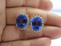 LeVian Levian Gem Tanzanite Diamond Huggie Earrings Yg 17.08ct