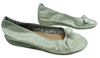 LifeStride Biege Satin Woven Bottom Casual Slip On Wedge B3614 Beige Flats