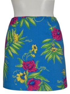 Lilly Pulitzer Womens Casual Floral Skirt Blue, Green, Yellow, Pink