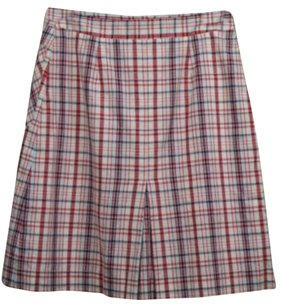 Lilly Pulitzer Womens Plaid Med Knee Skirt Pink