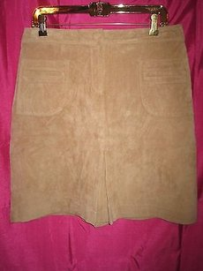 Lilly Pulitzer Suede Skirt Tan
