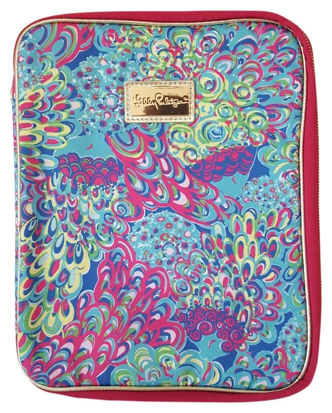 Lilly Pulitzer Blue Lillys Lagoon Print Notebook Folio Organizer