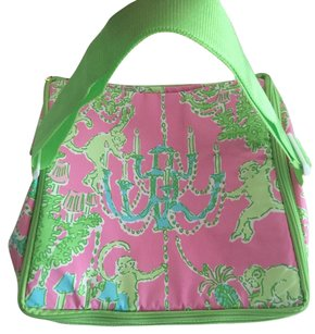 Lilly Pulitzer Cooler Zippered Cooler Monkey Trouble pink/green Beach Bag