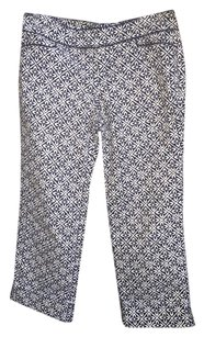 Lilly Pulitzer Corduroy Print Floral Capri/Cropped Pants Navy