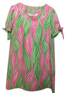 Lilly Pulitzer short dress Pink/green/white on Tradesy