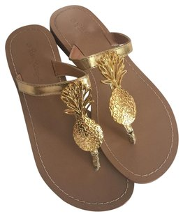 Lilly Pulitzer for Target Pineapple Pineapple Flip Flops gold Sandals