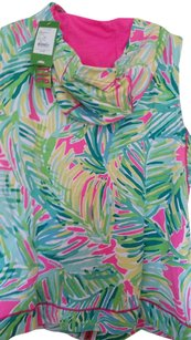 Lilly Pulitzer NWT LUXETIC LILLY PULITZER HOODED VEST SPORTY CUTE LOVE MINE
