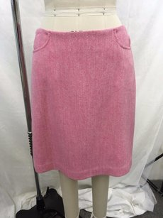 Lilly Pulitzer Wool Blend Herringbone Pencil Skirt Pink