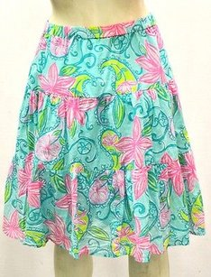 Lilly Pulitzer Tealpink Skirt Multi-Color