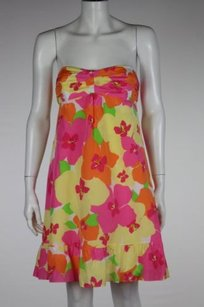 Lilly Pulitzer Womens Floral Sleeveless Sheath Above Knee Dress