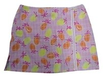 Lilly Pulitzer Blend Back Zipper 2707a Skort Pink Orange Yellow