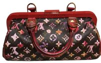 Limited Printemps-ete 2008 Louis vuiiton bag Satchel in Brown-red