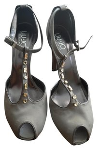Liu.Jo Grey Satin Stiletto Silver /Gray Formal