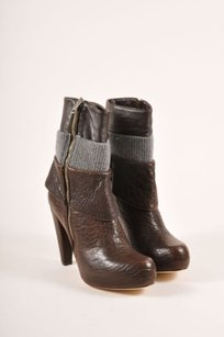 Loeffler Randall Brown Gray Boots