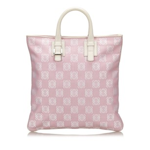 Loewe Canvas Leather Others Tote