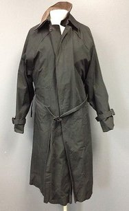 London Fog Acrylic Lined Hidden Button Front Trench Sma 5005 Trench Coat