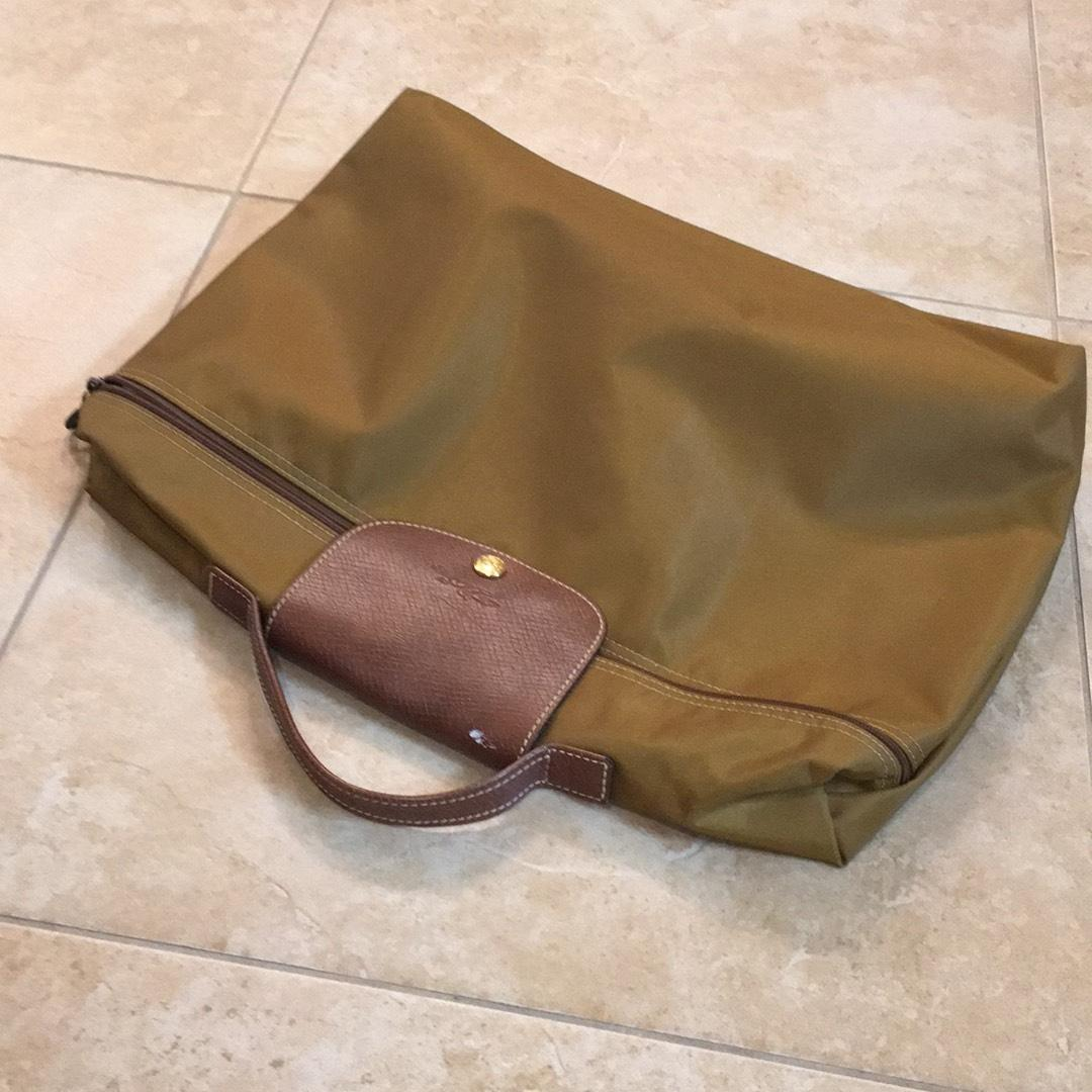 Latest Cheap Portable Longchamp Le Pliage Messenger Bag Beige