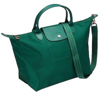 Longchamp Tote in Emerald Green