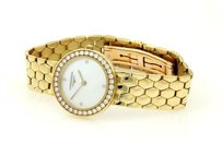 Longines Longines 18k Yellow Gold Case Band Diamond Bezel Sapphire Crystal Ladies Watch