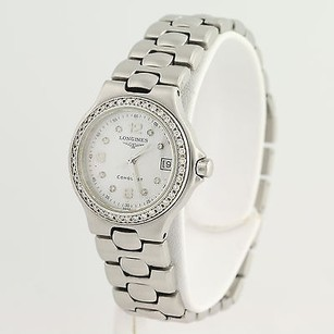 Longines Longines Conquest Ladies Watch L1.131.0 Stainless Steel Mother Of Pearl Warranty