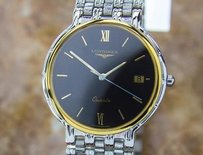 Longines Luxurious Stainless Steel Longines Mens Quartz Dress Watch Circa 1990 Pb13