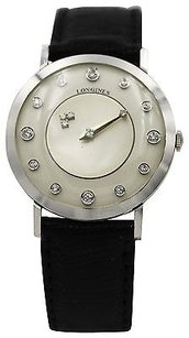 Longines Mens Longines Mystery Dial 14k White Gold