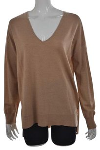 Lord & Taylor Amp Womens Light Speckled Wool Casual Sweater