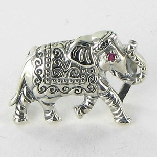 Lori Bonn Lori Bonn 212115ps Slide Charm Junk In The Trunk Elephant Pink Sapphire 925