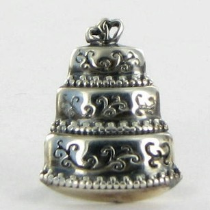 Lori Bonn Lori Bonn 212173 Slide Charm Let Them Eat Cake Sterling Silver New Wi