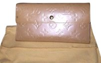Louis Vuitton Auth Louis Vuitton Long Wallet Purse Vernis color - Tan