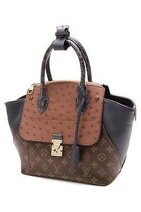 Louis Vuitton Exotique Majestueux Pm Tote in Brown, navy blue