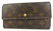 Louis Vuitton Auth LOUIS VUITTON Porte Tresor International Wallet Monogram M61215 F/S 8946eRN