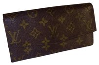 Louis Vuitton Auth LOUIS VUITTON Vintage Monogram Pattern Bifold Wallet Purse