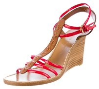 Louis Vuitton Brown and Red Wedges
