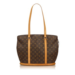 Louis Vuitton Brown Canvas Leather Shoulder Bag