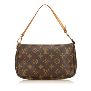Louis Vuitton Brown Canvas Shoulder Bag