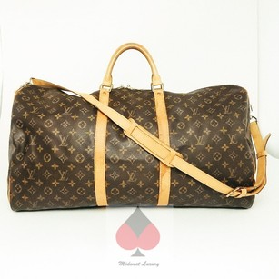 Louis Vuitton Brown Monogram (Entrupy Authenticated) Travel Bag