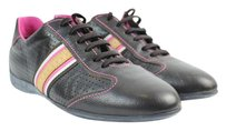 Louis Vuitton Brown Pink Leather Soccer Athletic