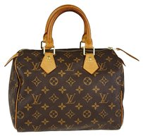 Louis Vuitton Monogram Canvas Speedy 25 Monogram coated Travel Bag