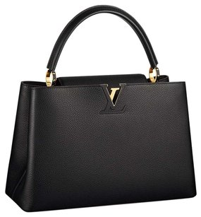 Louis Vuitton Classic Limited Edition Chic Leather Gold Hardware Tote in Black Noir