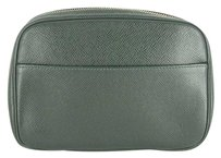 Louis Vuitton Cosmetic Case Pouch Green Clutch